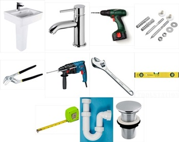 tools required for Basin and pedestal installation
