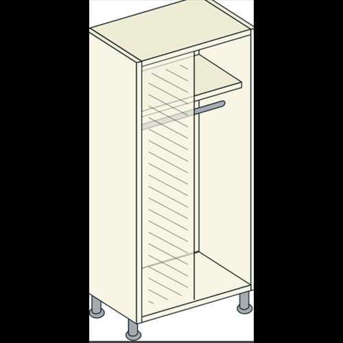 Bretton Park Mirrored Corner Full Hanging Unit - 1 Shelf
