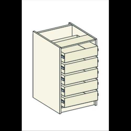 Bretton Park Tall Drawer Unit Pack - 5 Drawers