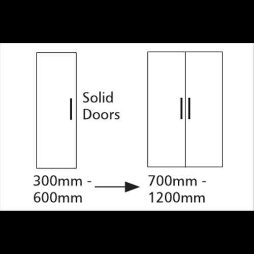 Double Door Single Hanging Unit 2 Shelf - Bretton Park
