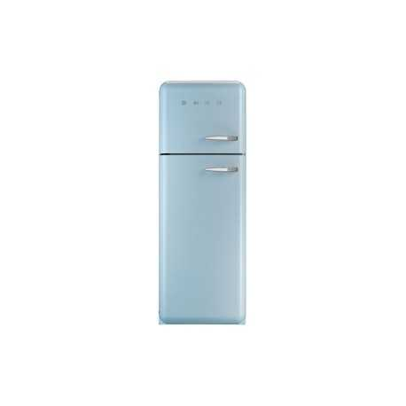 Smeg 70/30 FAB30 Refrigerator / Freezer - Pastel Blue Left Hinged