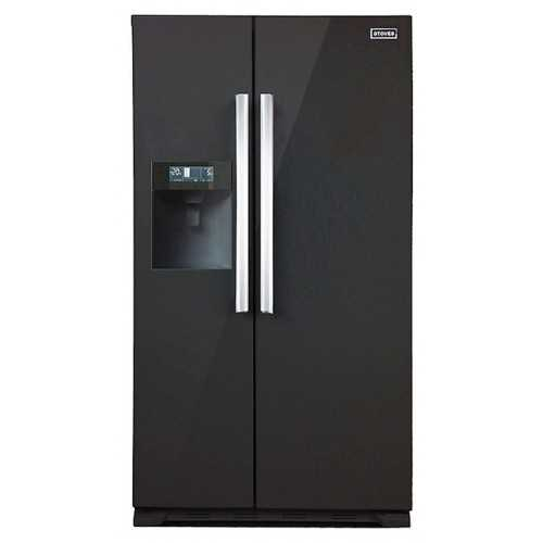 Stoves Freestanding Side-by-Side Fridge / Freezer - Black
