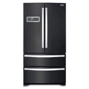Stoves Freestanding Side-by-Side Fridge / Freezer with Drawers - Black