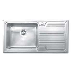 JPD Avon Single Bowl Brushed Stainless Steel Sink