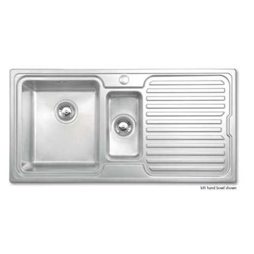 JPD Avon 1.5 Bowl Brushed Stainless Steel Sink