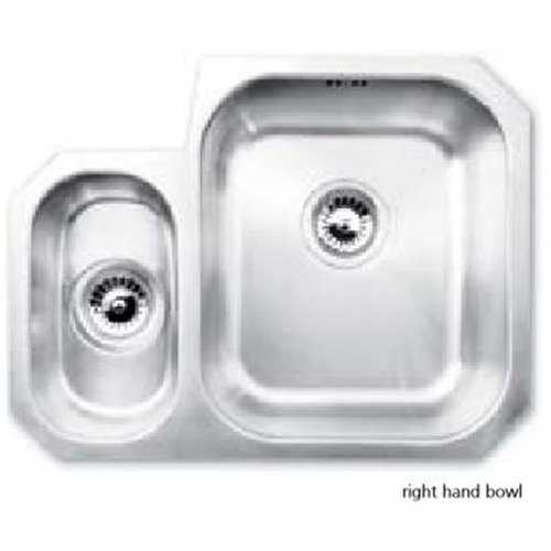 JPD Arun 1.5 Bowl Brushed Stainless Steel Sink
