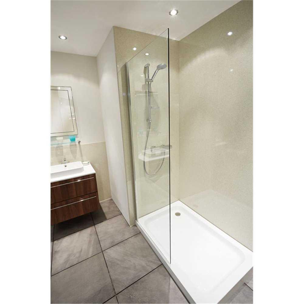 Nuance Vanilla Quartz Gloss Finish Laminate Bathroom Worktops