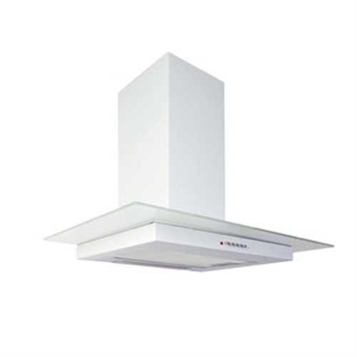 Flavel White Flat Glass Hood