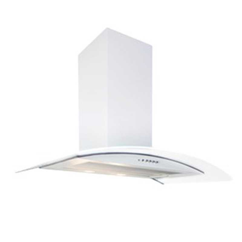 Flavel White Curved Glass Cooker Chimney Hood