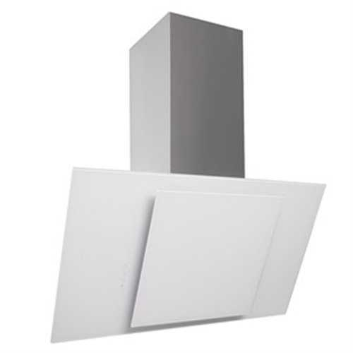Flavel Stainless Steel & White Glass Angled Hood