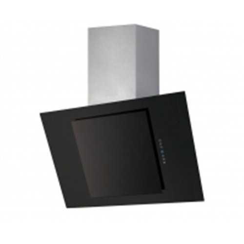 Flavel Stainless Steel & Black Glass Angled Hood