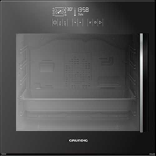 Grundig 60cm Single multifunction oven with side opening door, multi-taste & chef assist