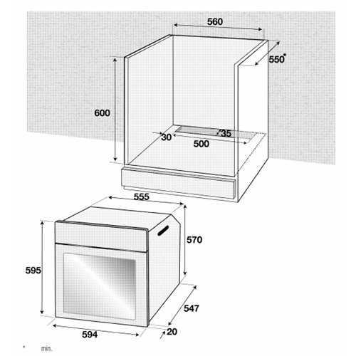 Blomberg 60cm Fan oven with LED programmer