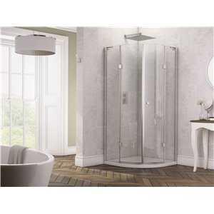 Genoa Frameless Double hinged door Quadrant Shower Enclosure