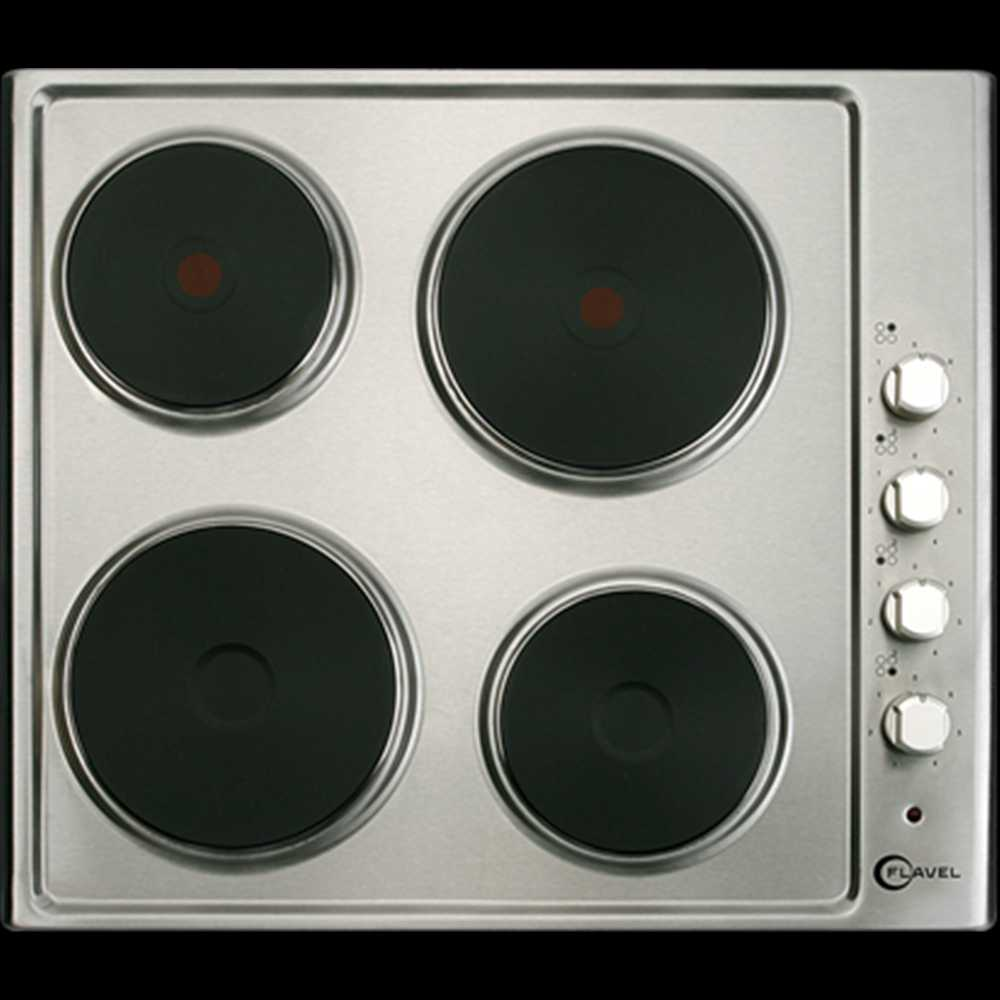 Flavel Electric Solid Plate Hob 2 Rapid Zones
