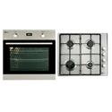 Flavel Single electric fan oven with programmable LED timer and Hob Pack