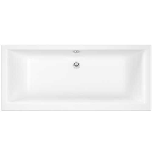 Foxham Square double ended acrylic bath (no tap holes)