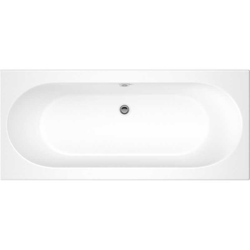 Portsden Round Double Ended Acrylic Bath No Tap Holes