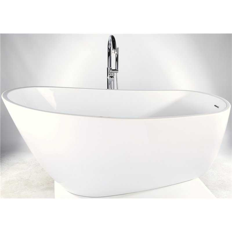 Izumi Freestanding acrylic bath including waste (tap not included)