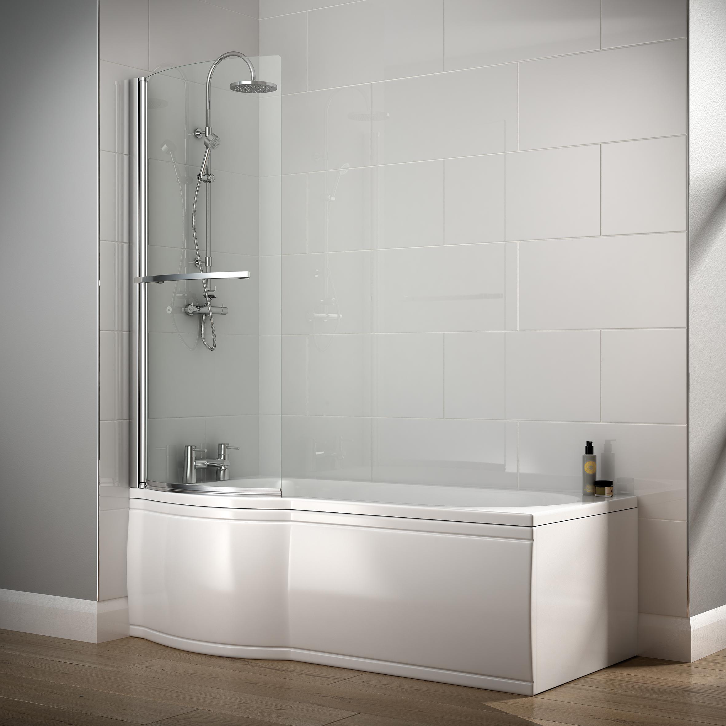 clovelly l shaped acrylic shower bath no tap holes bretton park saltaire p shaped acrylic shower bath no tap holes bretton park