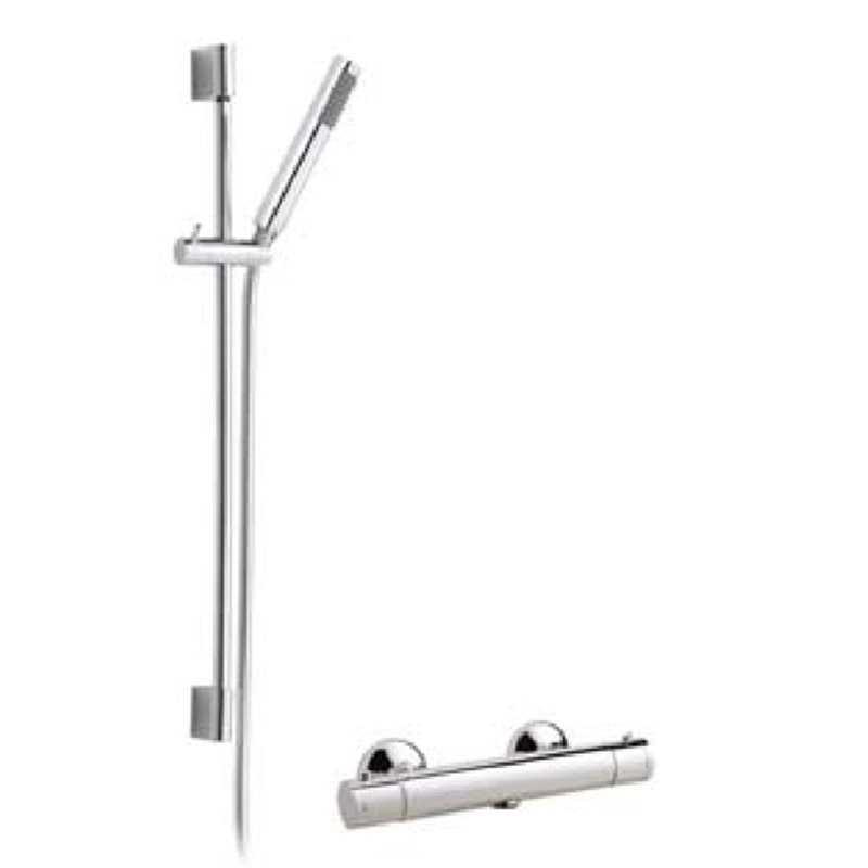 Bretton Park Round thermostatic shower & slide rail kit