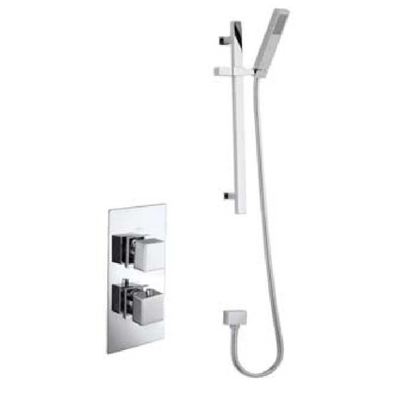 Bretton Park Twin thermostatic shower & slide rail kit