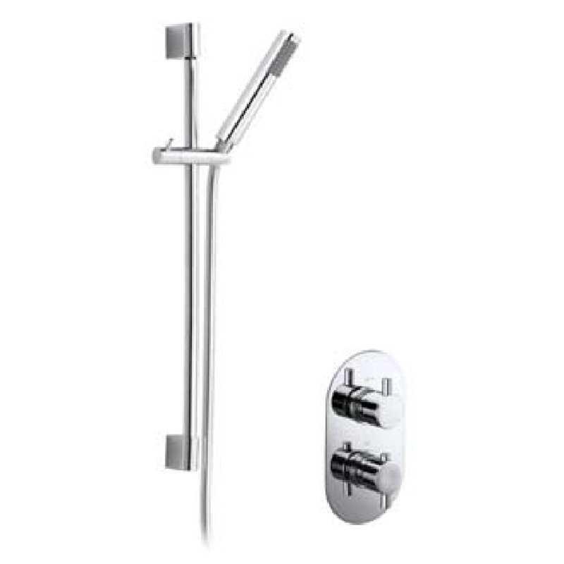 Bretton Park Round Twin thermostatic shower & slide rail kit