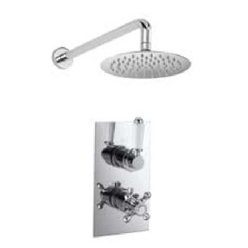 Bretton Park Imperial twin thermostatic shower kit with fixed head