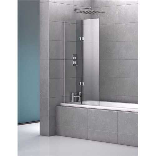 Genoa Double Frameless Bath Screen - Bretton Park
