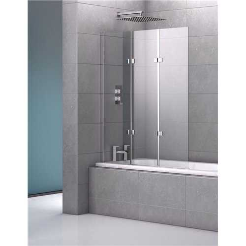 Genoa Triple Frameless Bath Screen - Bretton Park