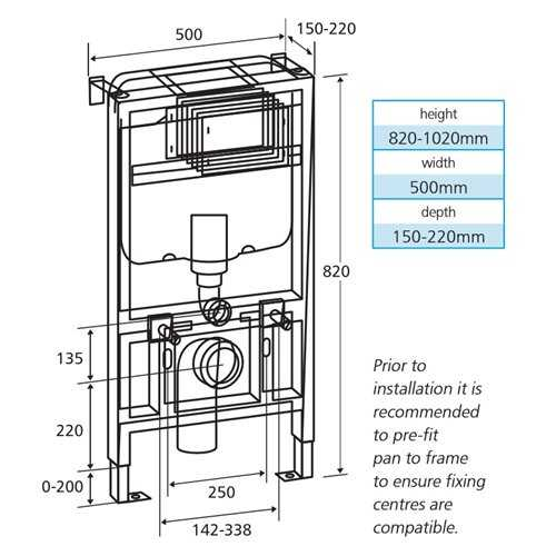 Bretton Park 820 concealed cistern & mounting frame