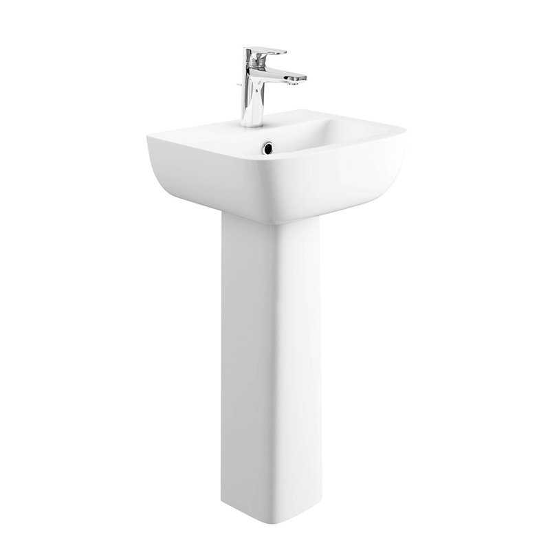 Appleton cloakroom basin pedestal bretton park - Glass cloakroom basin ...