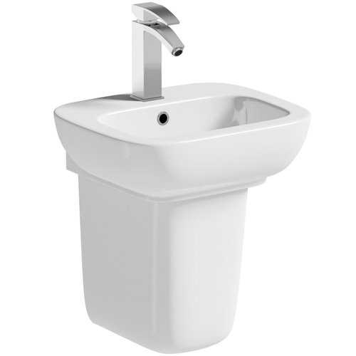 Oakworth cloakroom Basin & Semi Pedestal - Bretton Park