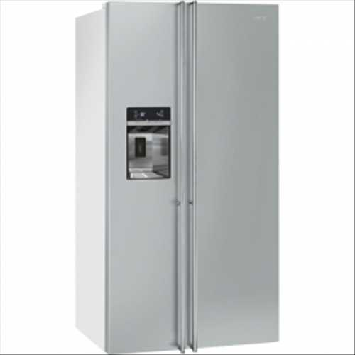 Smeg American Side-by-Side Fridge Freezer (Stainless Steel Door & White Sides)