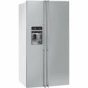 Smeg American Side-by-Side Fridge Freezer (stainless steel door & white sides)