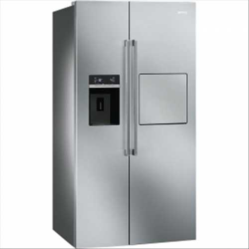 smeg american sidebyside fridge freezer with stainless steel effect door