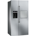 Smeg American side-by-side Fridge Freezer With Stainless Steel Effect door