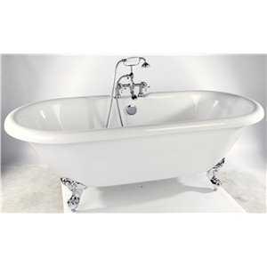 Bretton Park Medford freestanding acrylic bath on chrome feet
