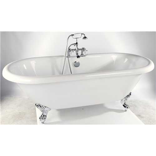 Bretton Park Medford freestanding acrylic bath on chrome feet