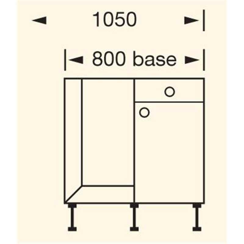 Bretton park drawerline corner base units collection 3 matt for Kitchen corner base units 800mm