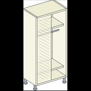Bretton Park Corner Single Hanging Unit - 2 Shelf