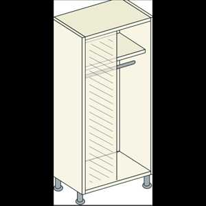 Bretton Park Mirrored Corner Full Hanging Unit - 1 Shelf