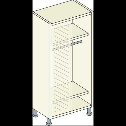 Bretton Park Mirrored Corner Single Hanging Unit - 2 Shelf