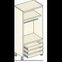 Single Door 1 Hanging 1 Shelf 3 External Drawer Unit - Bretton Park