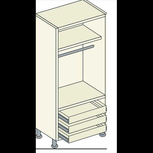 Bretton Park Mirrored 1 Hanging - 1 Shelf - 3 External Drawer Unit