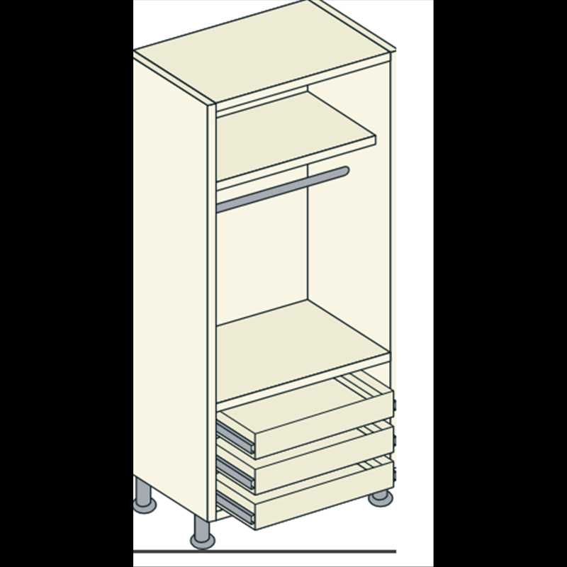 Single door mirrored 1 hanging 1 shelf 3 external drawer for Mirrored drawer unit