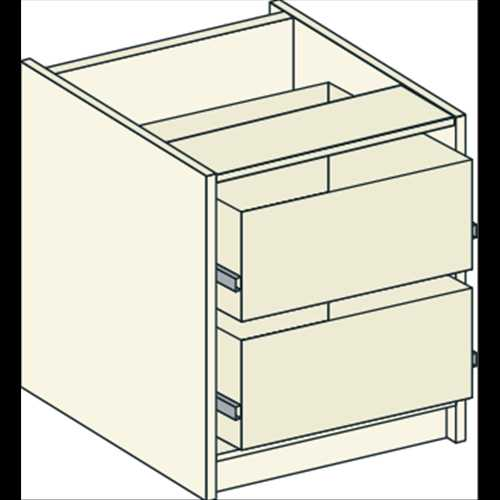 Bretton Park Bedside Drawer Unit - 2 Drawers