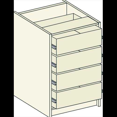 Bretton Park Bedside Drawer Unit - 4 Drawers