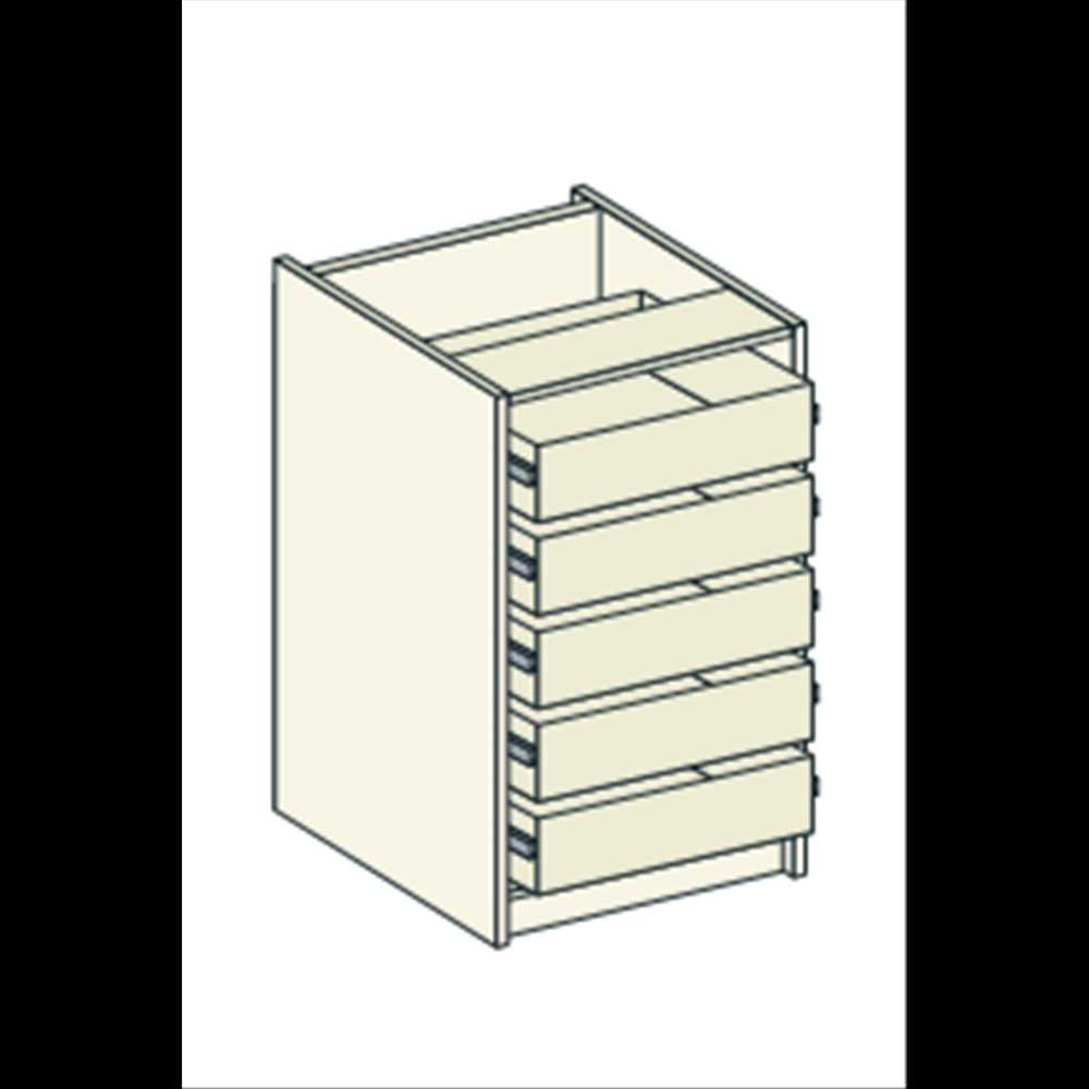 Tall drawer unit pack 5 drawers bretton park bbk direct for Tall kitchen drawer unit