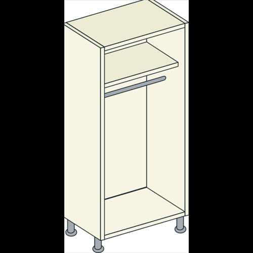 Double Door Full Hanging Unit 1 Shelf - Bretton Park